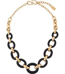 yves saint laurent pre-owned 1980s ebony necklace - gold