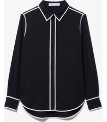 proenza schouler white label rumpled pique pajama top black 0