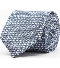 krawat makrowzór niebieski 103