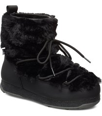 snowflake fur shoes boots ankle boots ankle boots flat heel svart svea