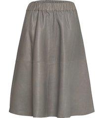skirt knälång kjol grå depeche