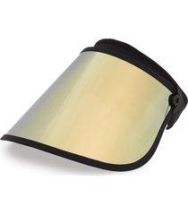 bluestone sunshields full lux visor in black/rose gold champagne at nordstrom