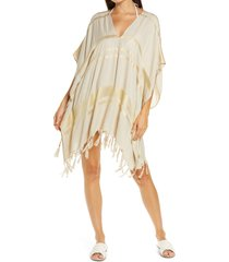 women's l space seaport metallic thread cover-up tunic