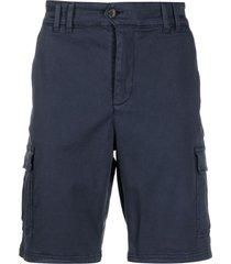 ecoalf organic cotton-blend bermuda shorts - blue