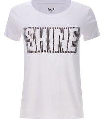 camiseta lentejulas shine color blanco, talla m