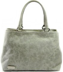 bolsa tiracolo em couro com dois compartimentos maria adna cinza - cinza - feminino - dafiti