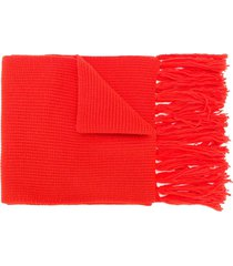 ami fisherman's rib scarf - red