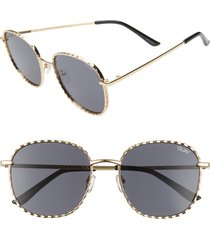 women's quay australia x lizzo jezebell 53mm round sunglasses -