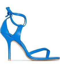 materiel thong strap sandals - blue