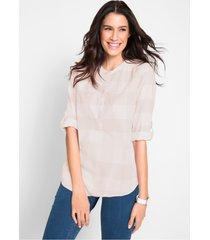 katoenen blouse, lange mouw