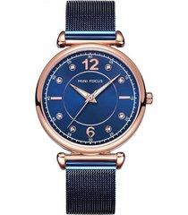 reloj análogo azul mini focus