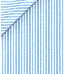 pantaloni da uomo su misura, lanificio subalpino, seersucker stretch rigati azzurri, primavera estate | lanieri