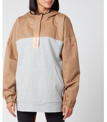 p.e nation women's cross limits hoodie - tannin - l