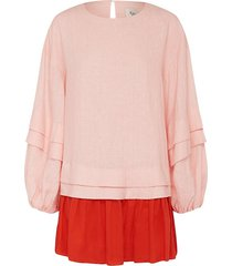 aje women's impermanence constant dress - pink red - size 8