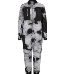 cinzia araia black and grey jumpsuit for boy with tie and die prints