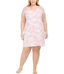 charter club plus size lace sleeve nightgown, created for macy's