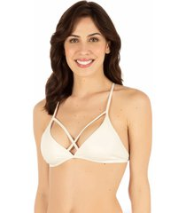 sutiã strappy básico off white - 539.013 marcyn lingerie triângulo off-white