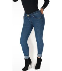pantalón jeans dama azul medio di bello jeans ® classic jeans ref j524