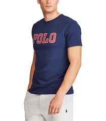 camiseta azul navy-rojo polo ralph lauren m classics navy ssl tsh