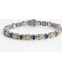 konstantino 'hermione' line bracelet in silver/blue topaz at nordstrom