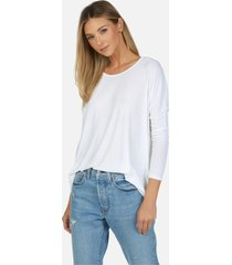hunter core draped tee - white l