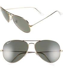 men's ray-ban 'aviator' polarized 62mm sunglasses -