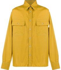 marni pocketed military shirt - yellow