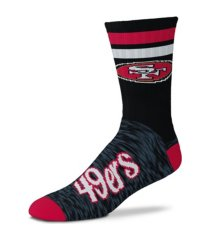 for bare feet san francisco 49ers black script socks