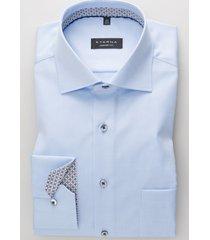 eterna overhemd cover shirt grijs print contrast kent comfort fit