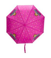 moschino guarda-chuva dj bear - rosa