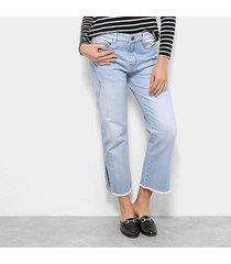 calça jeans carmim saint james pantacourt feminina