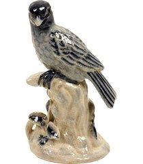 escultura decorativa de porcelana pássaro carnarvon