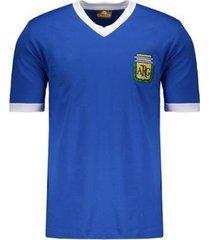 camisa argentina retrô n° 10 masculina