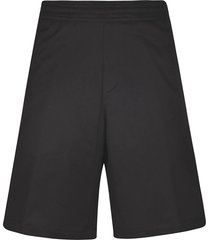 neil barrett flared ribbed shorts