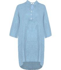 tiffany tiffany lång linneskjorta ljusblå, 17690