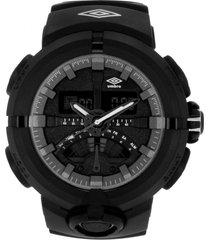 reloj digital análogo negro umbro