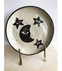 ceramiczny talerz księżyc i gwiazdy
