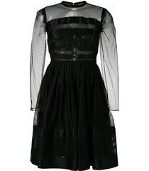 chanel pre-owned 1990's fit-and-flare dress - black
