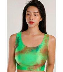 peto print tie dye verde night concept