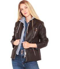 chaqueta wados m/l caoucha marrón - calce regular