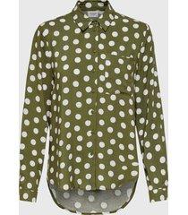 blusa jacqueline de yong verde - calce regular