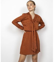 vestido marrón benjamina sully
