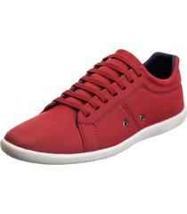 sapatênis sapato casual mavi basico vermelho