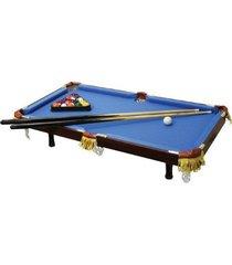 executive tabletop billiard pool table - real wood, real felt - blue