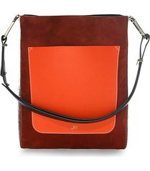 detailed leather tote