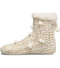 lurex short slipper sock lingerie hosiery socks creme hunkemöller