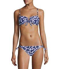 aria smocked bandeau bikini top