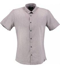 only & sons zacht grijs denim overhemd