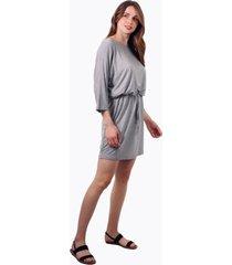 vestido mila corto de algodón gris jacinta tienda