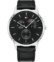 reloj tommy hilfiger 1710391 negro cuero